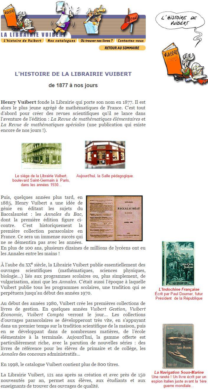 histoire de la librairie Vuibert