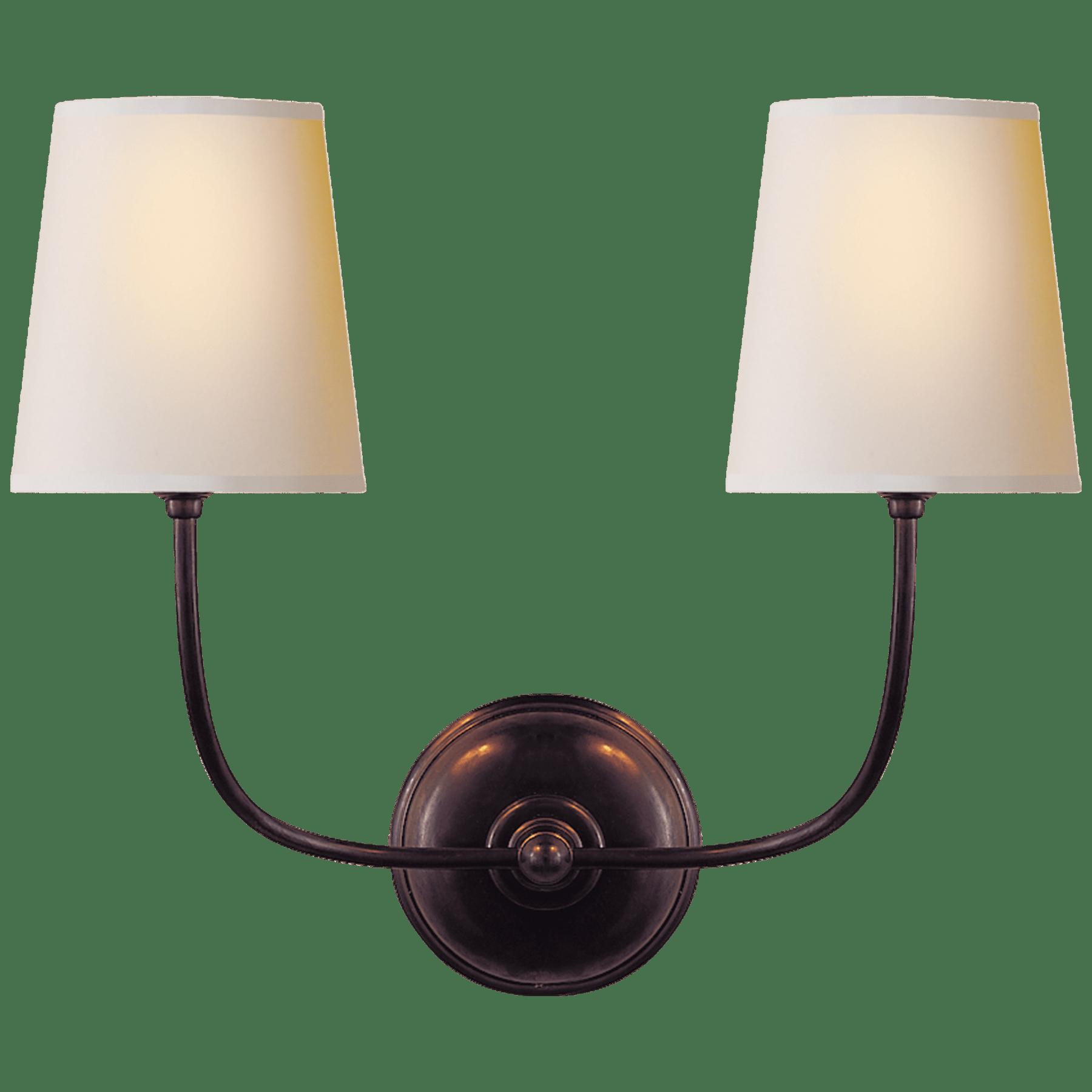 Vendome Double Sconce Designer Thomas O Brien Circa Lighting