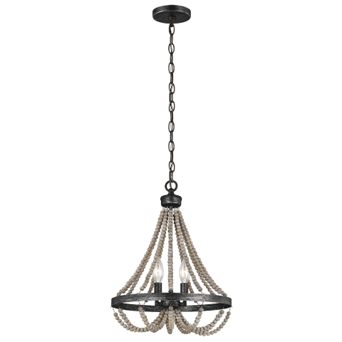 Oglesby Two Light Chandelier Washed Pine Bulbs Inc