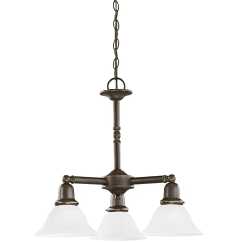 Sussex Three Light Chandelier Heirloom Bronze