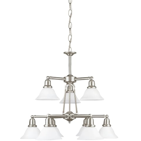 Sussex Nine Light Chandelier Brushed Nickel