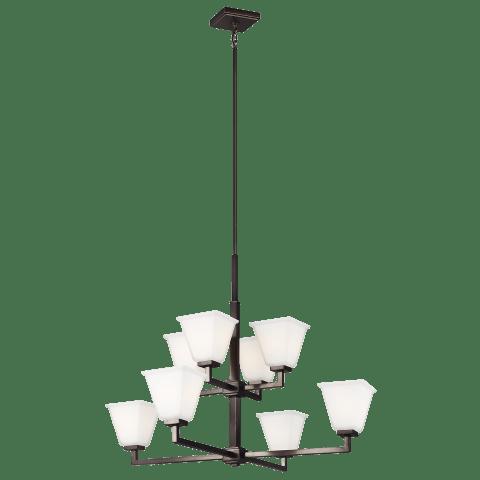 Ellis Harper Eight Light Chandelier Brushed Oil Rubbed Bronze Bulbs Inc