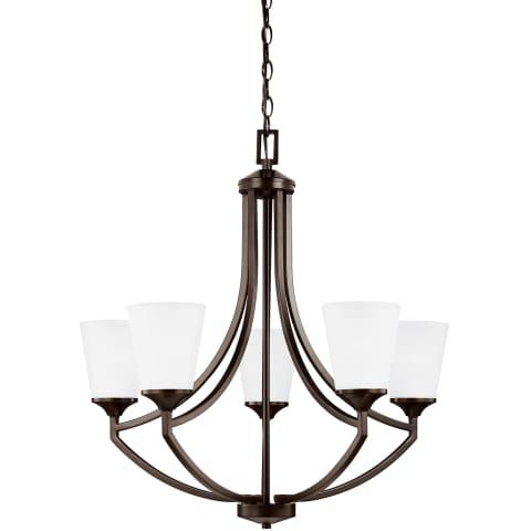 Hanford Five Light Chandelier Bronze Bulbs Inc