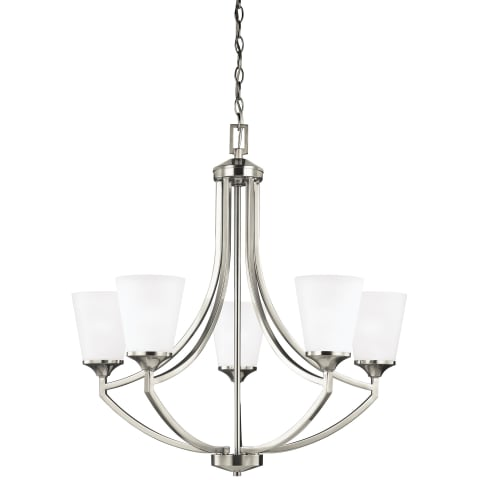 Hanford Five Light Chandelier Brushed Nickel Bulbs Inc