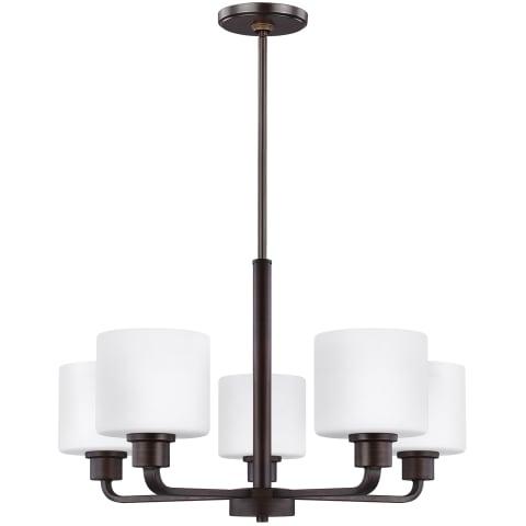 Canfield Five Light Chandelier Bronze Bulbs Inc