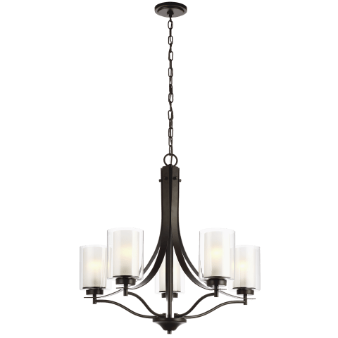 Elmwood Park Five Light Chandelier Heirloom Bronze