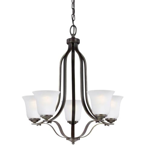 Emmons Five Light Chandelier Heirloom Bronze Bulbs Inc