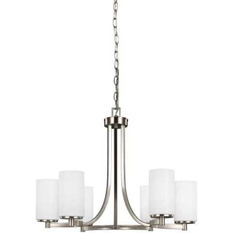 Hettinger Six Light Chandelier Brushed Nickel