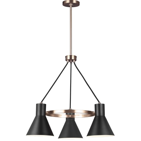 Towner Three Light Chandelier Satin Bronze
