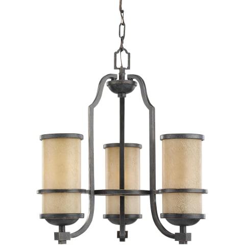 Roslyn Three Light Chandelier Flemish Bronze Bulbs Inc