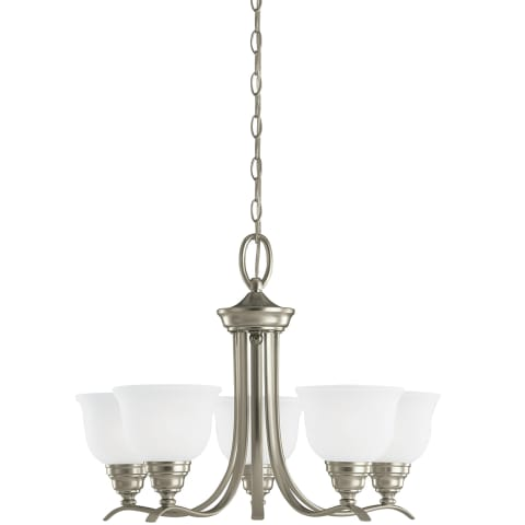 Wheaton Five Light Chandelier Brushed Nickel