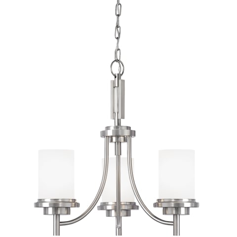 Winnetka Three Light Chandelier Brushed Nickel
