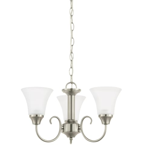 Holman Three Light Chandelier Brushed Nickel