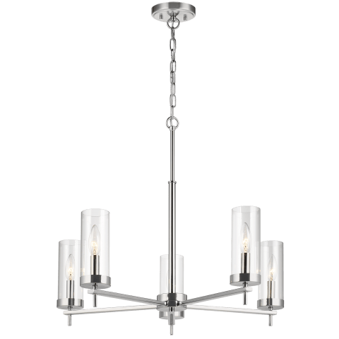 Zire Five Light Chandelier Chrome Bulbs Inc