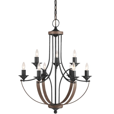Corbeille Nine Light Chandelier Stardust