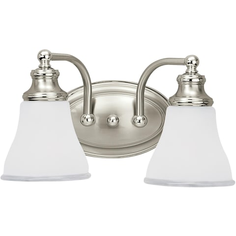 Alexandria Two Light Wall / Bath Two Tone Nickel