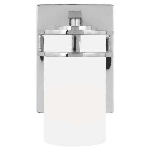 Robie One Light Wall / Bath Sconce Chrome Bulbs Inc