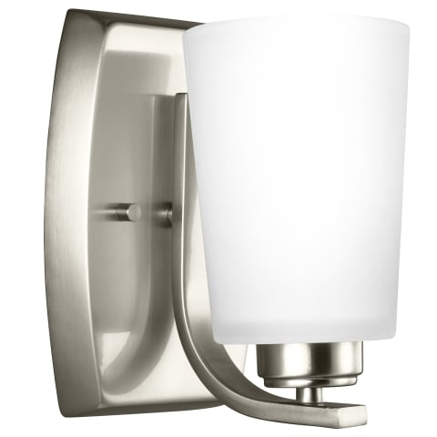 Franport One Light Wall / Bath Sconce Brushed Nickel