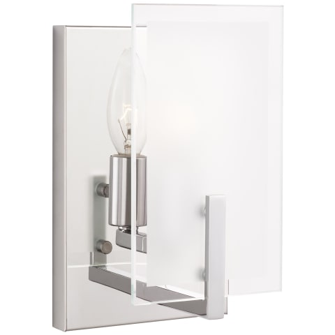 Syll One Light Wall / Bath Sconce Chrome Bulbs Inc