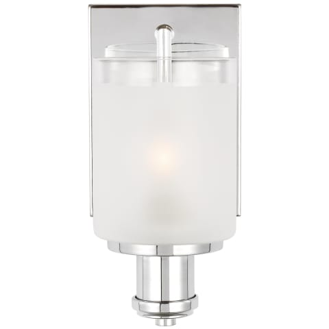 Norwood One Light Wall / Bath Sconce Chrome
