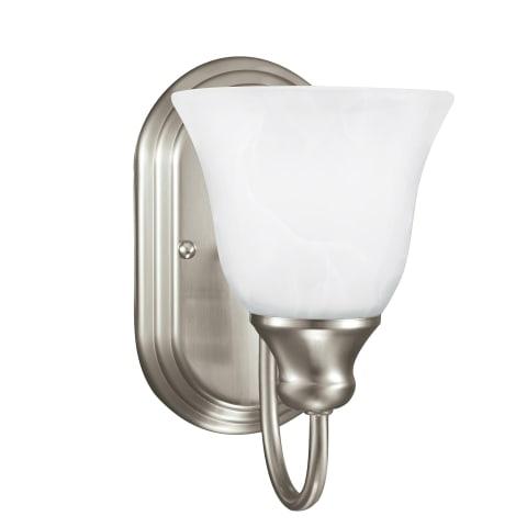 Windgate One Light Wall / Bath Sconce Brushed Nickel Bulbs Inc