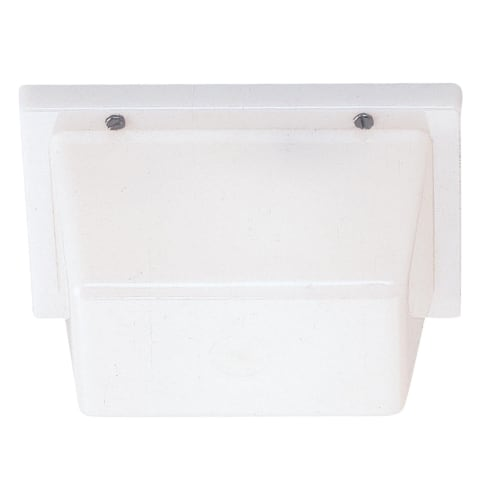 One Light Outdoor Wall / Ceiling Mount White Plastic Bulbs Inc