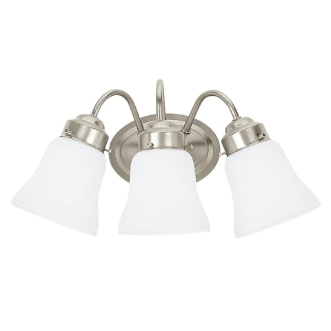 Westmont Three Light  Wall / Bath Brushed Nickel Bulbs Inc