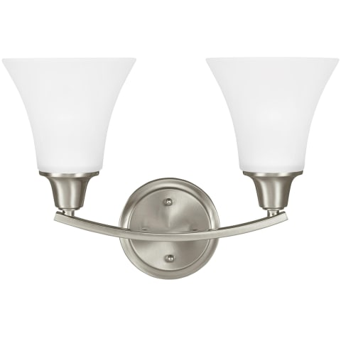 Metcalf Two Light Wall / Bath Brushed Nickel