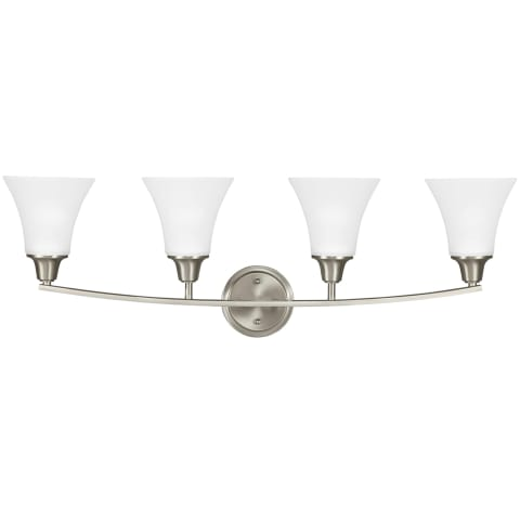 Metcalf Four Light Wall/ Bath Brushed Nickel
