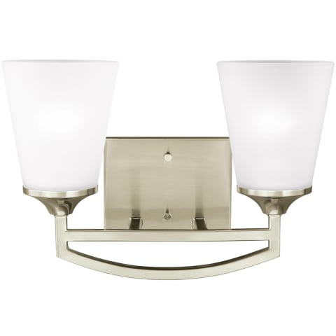 Hanford Two Light Wall / Bath Brushed Nickel Bulbs Inc