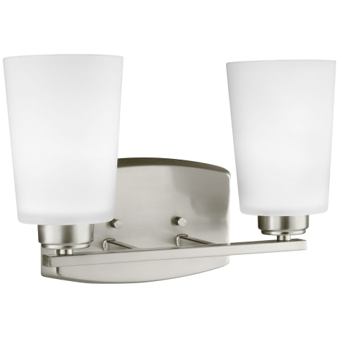 Franport Two Light Wall / Bath Brushed Nickel