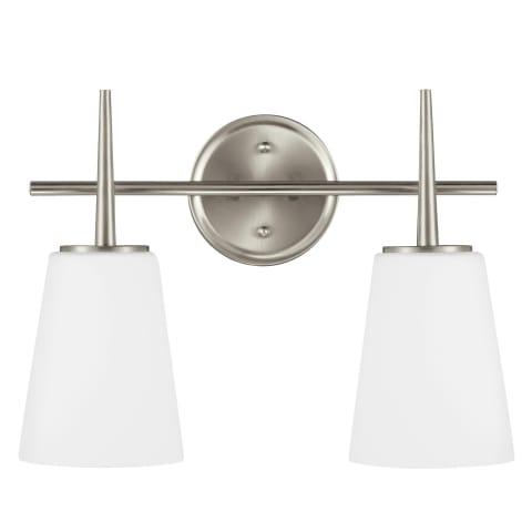 Driscoll Two Light Wall / Bath Brushed Nickel Bulbs Inc