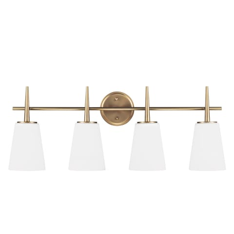 Driscoll Four Light Wall / Bath Satin Bronze