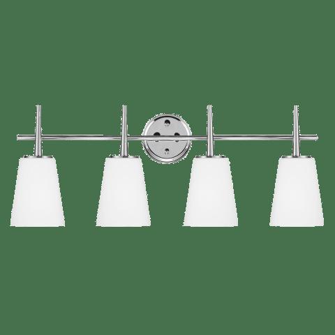 Driscoll Four Light Wall / Bath Chrome Bulbs Inc
