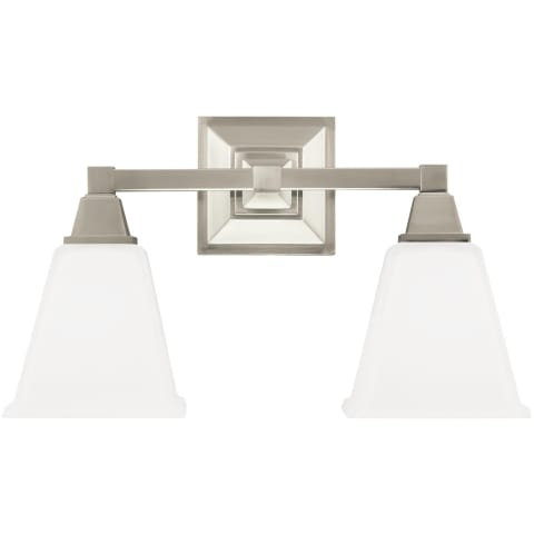 Denhelm Two Light Wall / Bath Brushed Nickel