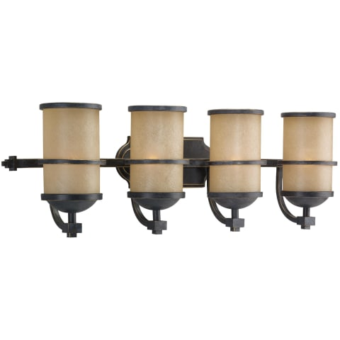 Roslyn Four Light  Wall / Bath Flemish Bronze Bulbs Inc