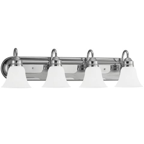Gladstone Four Light Wall / Bath Chrome Bulbs Inc