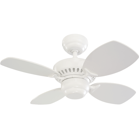"28"" Colony II Fan -  White"