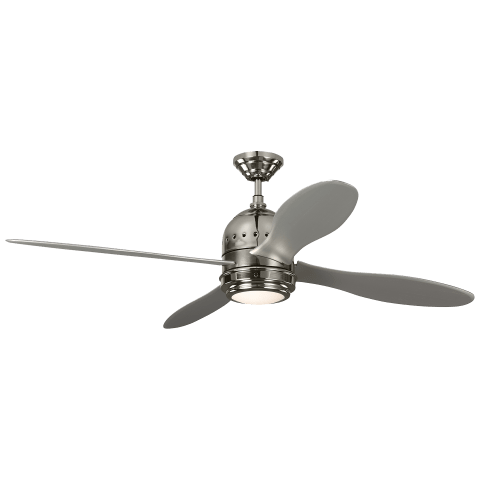 """56"""" Metrograph - with Grey Blades Polished Nickel"""