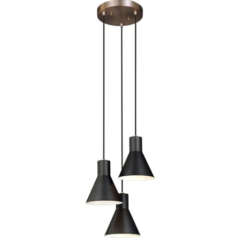 Towner Three Light Cluster Pendant Satin Bronze