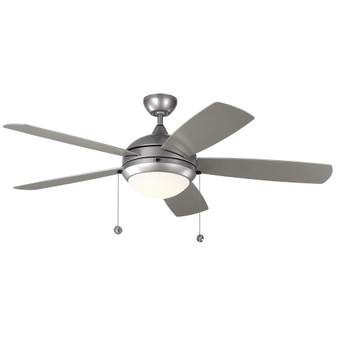 "52"" Discus Outdoor Fan -  Painted Brushed Steel"
