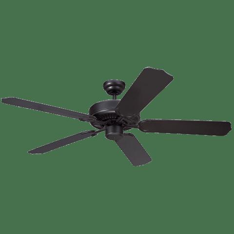 """52"""" Weatherford Outdoor Fan - Black Matte Black"""