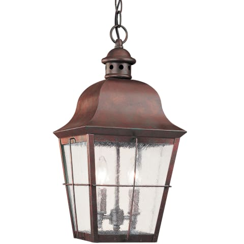 Chatham Two Light Outdoor Pendant Weathered Copper