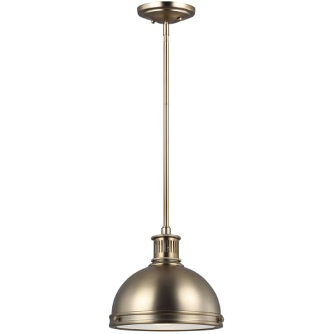 Pratt Street Metal Small LED Pendant Satin Bronze