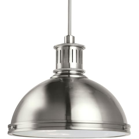 Pratt Street Metal Three Light Pendant Brushed Nickel