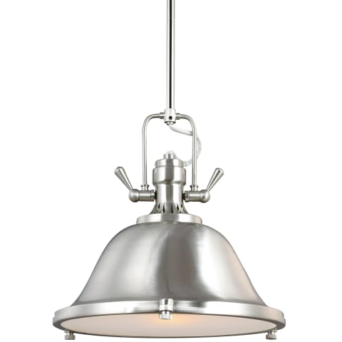 Stone Street One Light Pendant Satin Bronze