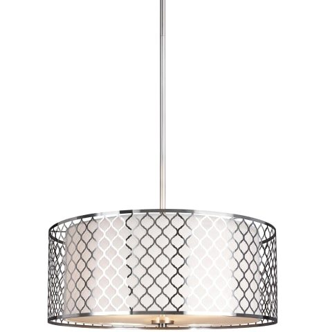 Jourdanton Three Light Pendant Brushed Nickel