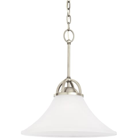 Somerton One Light Pendant Antique Brushed Nickel Bulbs Inc