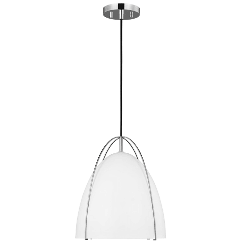 Norman One Light Pendant Chrome Bulbs Inc