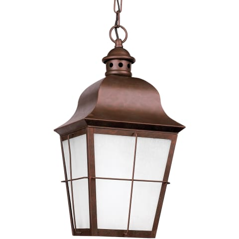 Chatham One Light Outdoor Pendant Weathered Copper